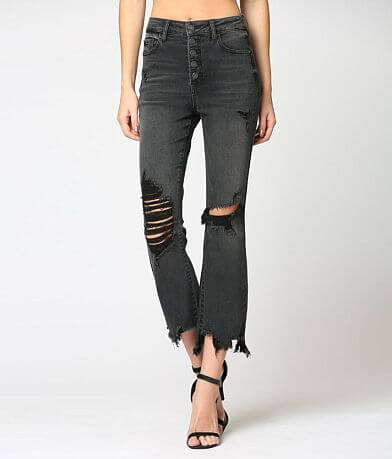 HIDDEN The Happi Cropped Flare Stretch Jean