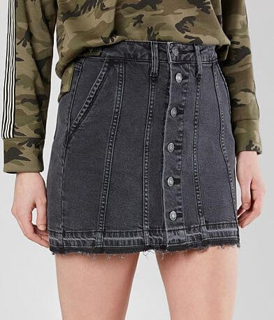 HIDDEN Mid-Rise Stretch Mini Skirt