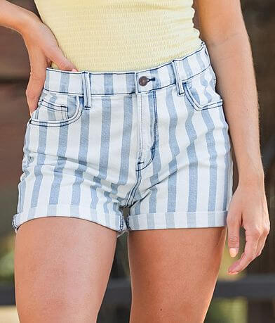 HIDDEN Sofie Striped Mom Stretch Short