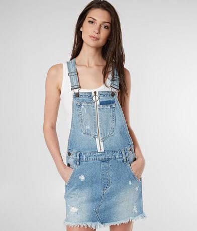 HIDDEN Pixie Denim Overall Skirt
