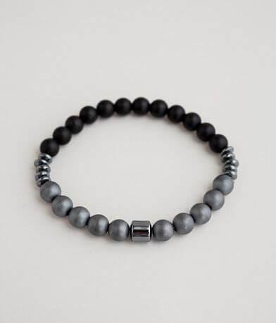 BKE Hematite Beaded Bracelet