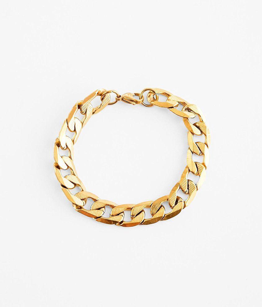 Textured metal bracelet Length measures 8\\\