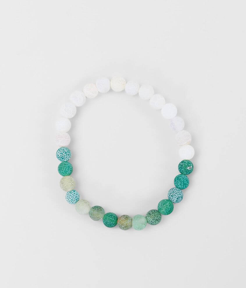 BKE White & Green Frosted Bracelet front view