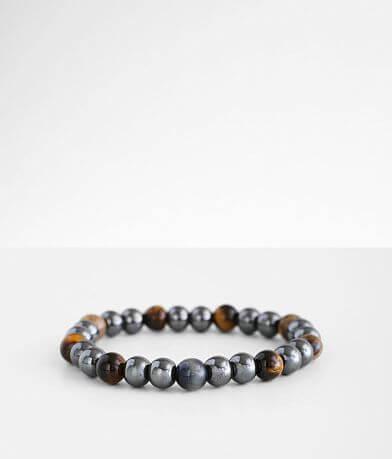 BKE Gunmetal Beaded Bracelet