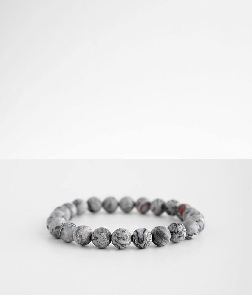 BKE Marble Stone Beaded Bracelet front view