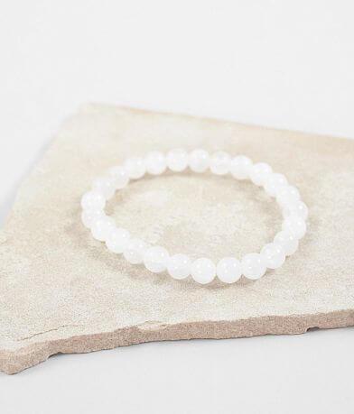 BKE White Jade Stone Bracelet