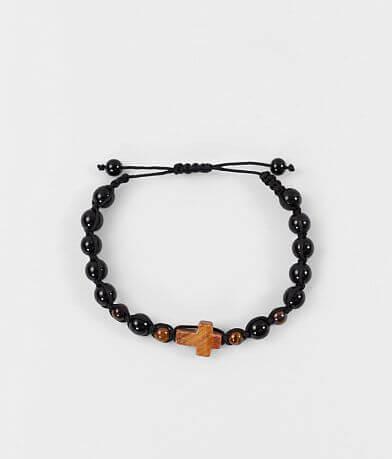 BKE Black & Brown Cross Bracelet