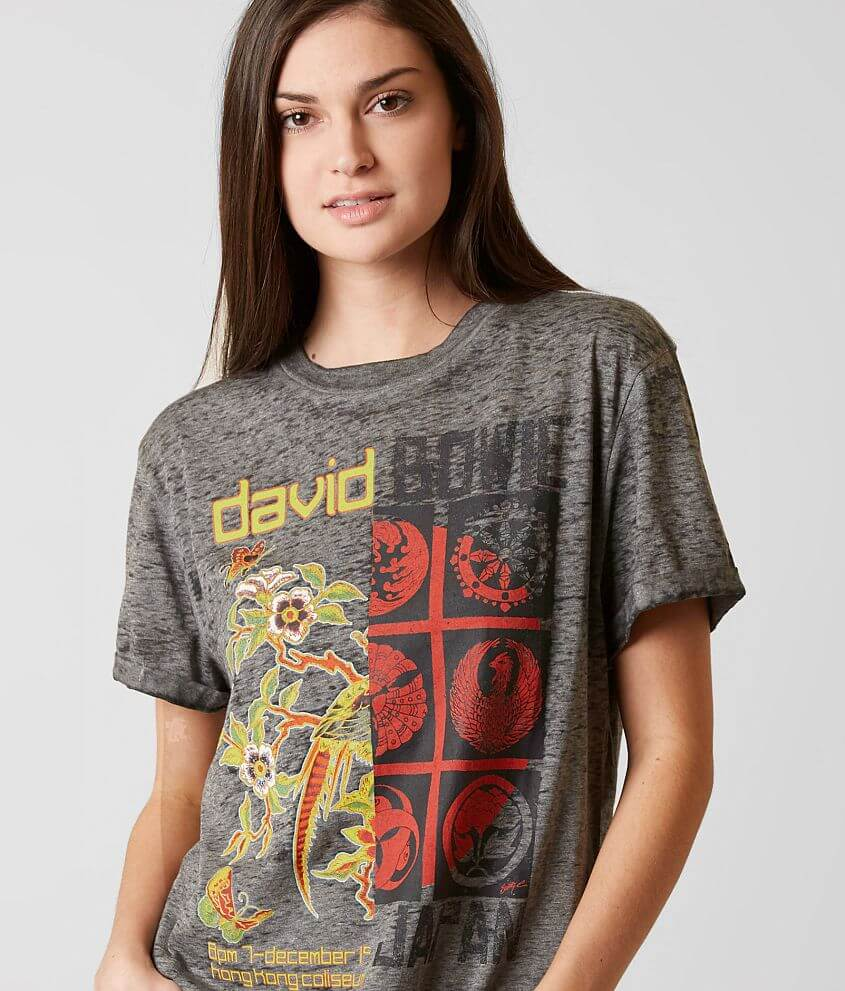 1deadf0f1bc0 Goodie Two Sleeves David Bowie Band T-Shirt - Women's T-Shirts in ...