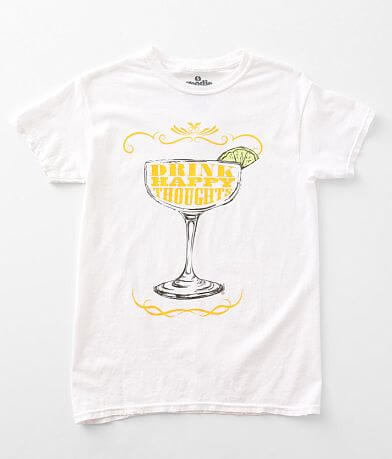 Goodie Two Sleeves Drink Happy Thoughts T-Shirt