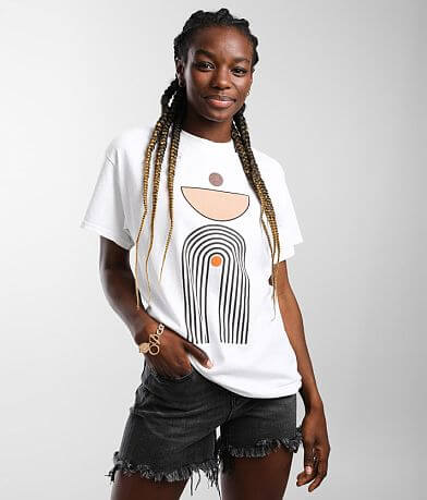 Goodie Two Sleeves Abstract Art T-Shirt