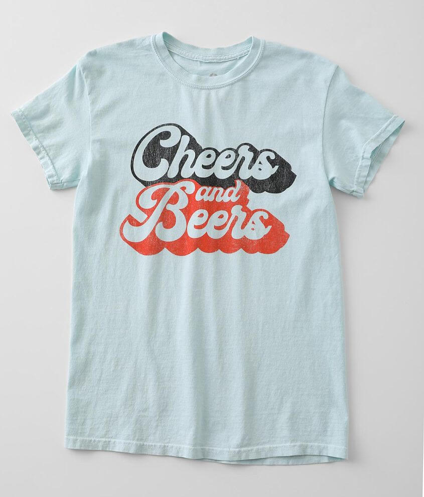 Goodie Two Sleeves Cheers & Beers T-Shirt front view