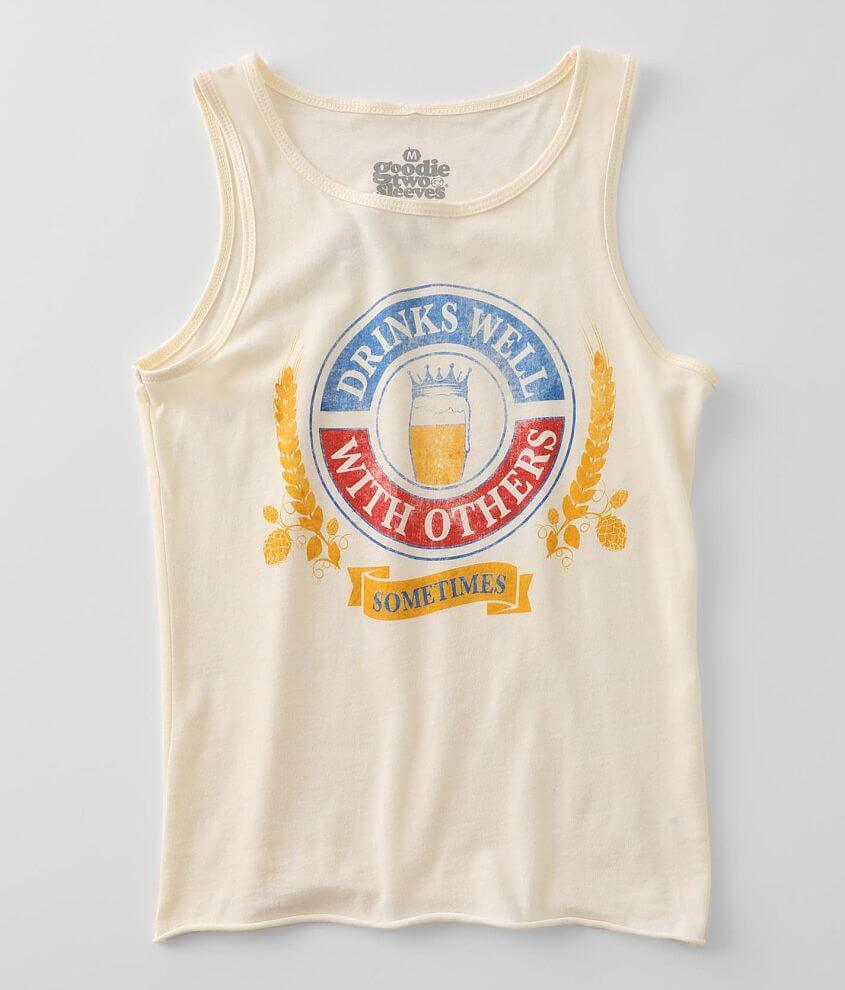 Goodie Two Sleeves Drinks Well Sometimes Tank Top front view