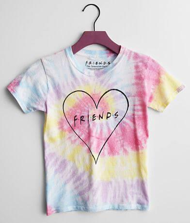 Girls - Friends Rainbow Tie Dye T-Shirt