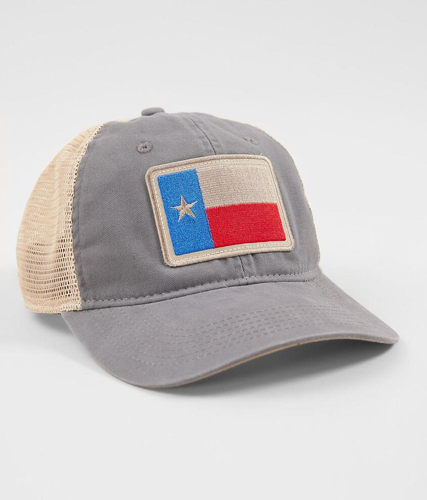 home® state Texas Flag Trucker Hat - Men s Hats in Graphite Khaki ... 57909e07767