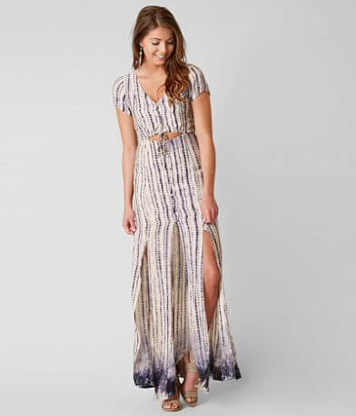 Honey Punch Printed Maxi Dress