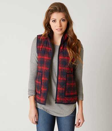 Honey Belle Flannel Puffer Vest