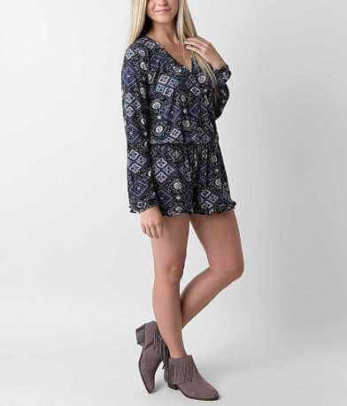 Honey Punch Printed Romper
