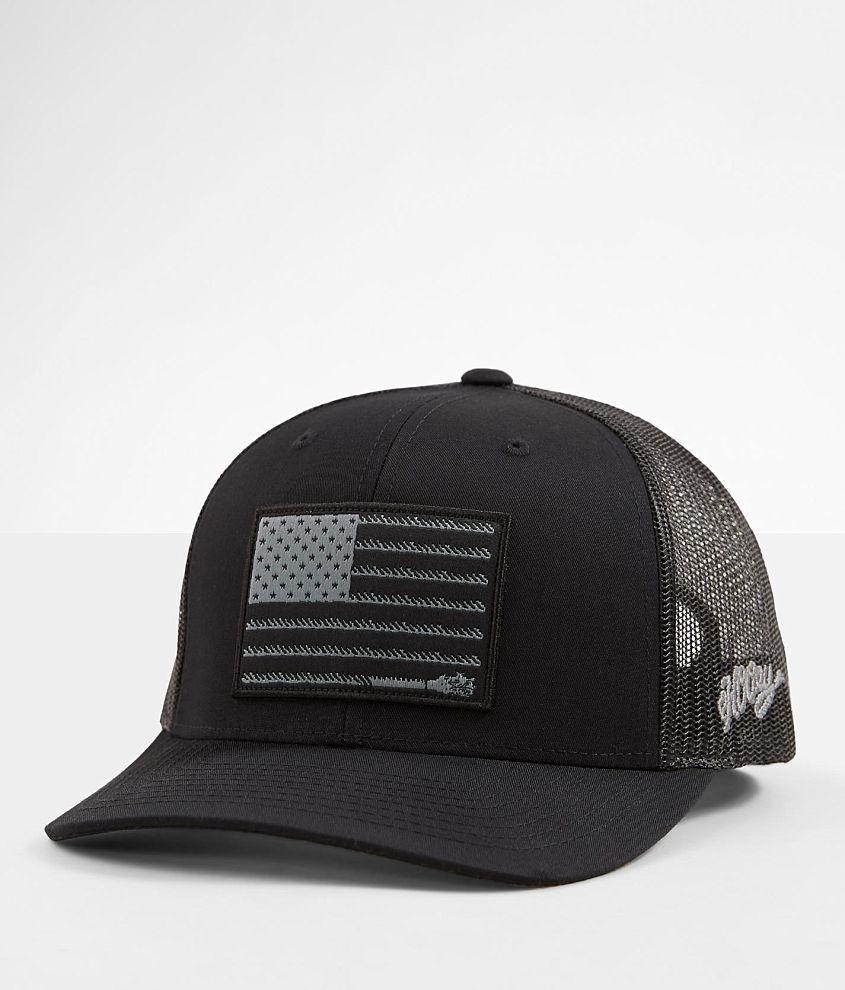 wholesale dealer to buy shoes for cheap Hooey Liberty Roper Trucker Hat - Men's Hats in Black | Buckle