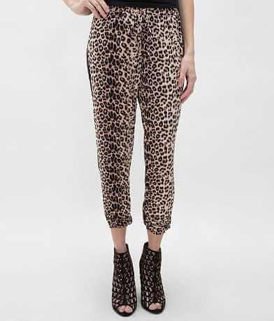 Black Bead Leopard Pant