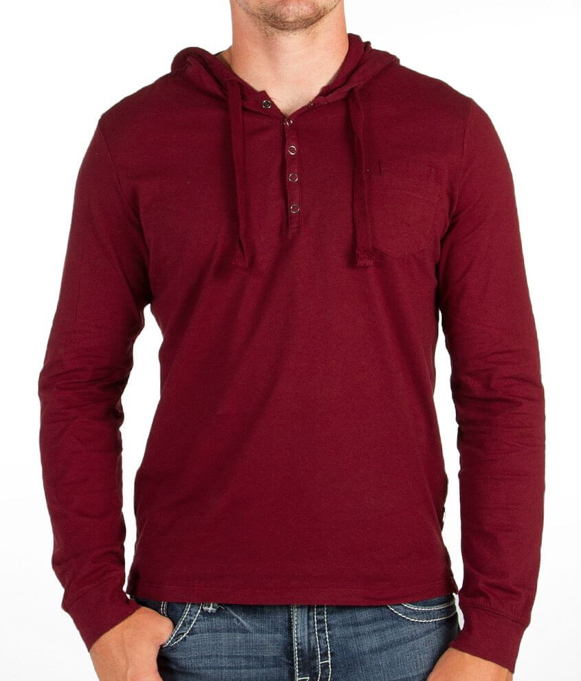 Howe Basic Henley Hoodie front view
