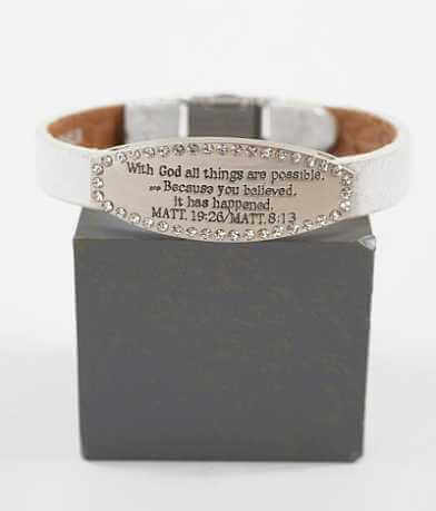 Good Work(s) Scripture Matt. 19:26/8:13 Bracelet