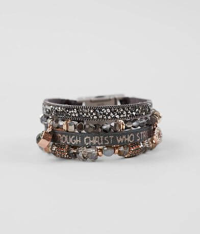 Good Work(s) Arise Quad Leather Bracelet