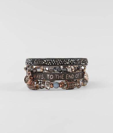 Good Work(s) Arise Quad Leather Bracelet