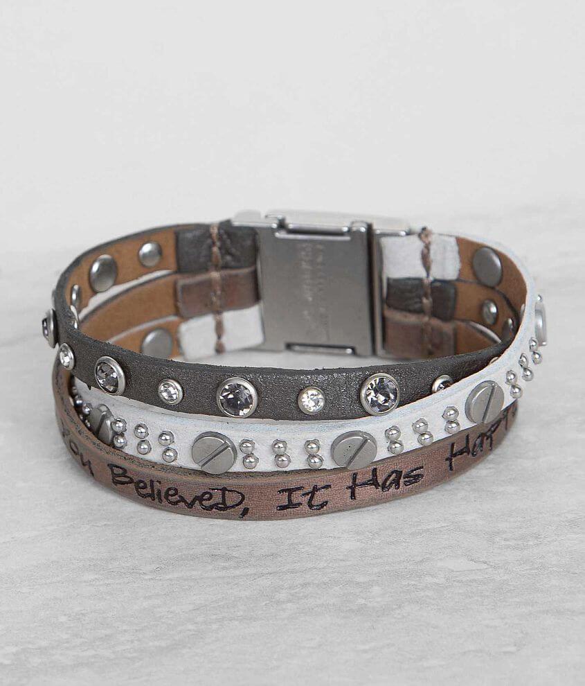 Good Work(s) Inspirational Bracelet front view