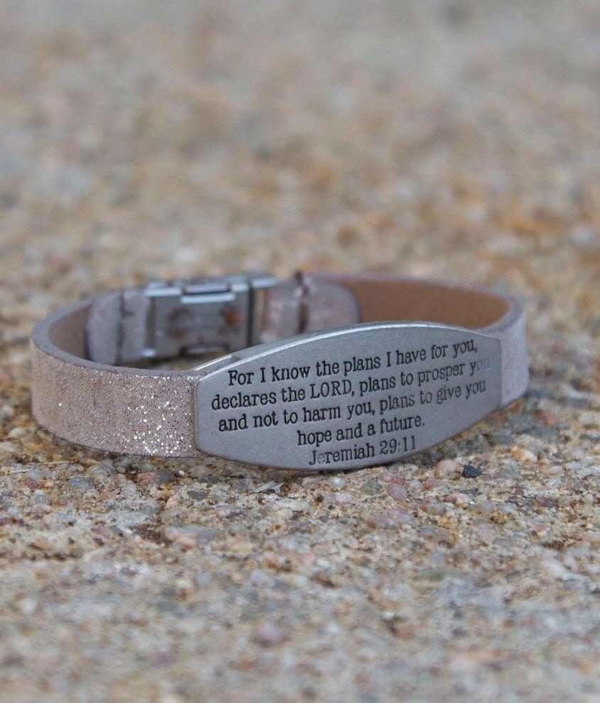 Good Work(s) Jeremiah 29:11 Bracelet front view
