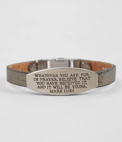 Good Work(s) Peace Mark 11:24 Leather Bracelet