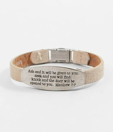Good Work(s) Peace Matthew 7:7 Leather Bracelet