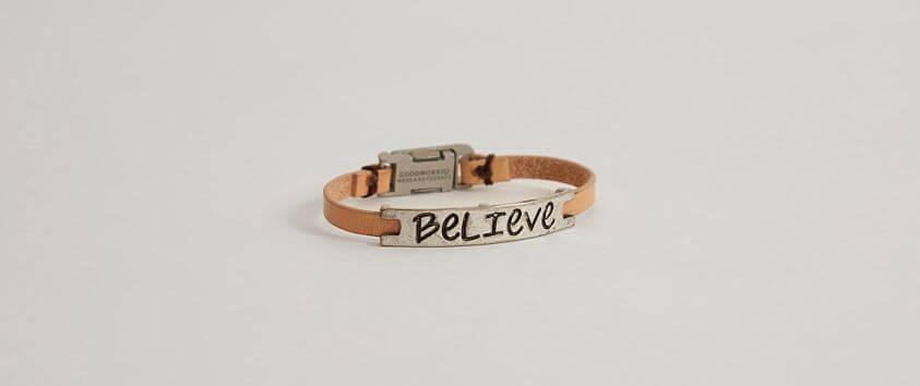 Good Work(s) Believe Bracelet front view
