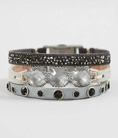 Good Work(s) Brilliant Trio Leather Bracelet