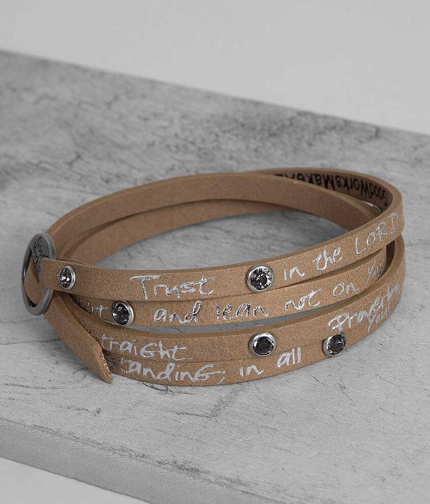 Good Work(s) Wrap Around Bracelet front view