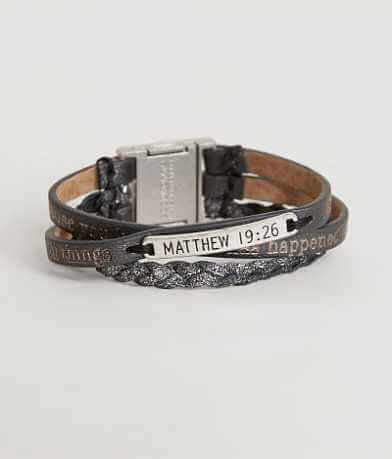Good Work(s) Matthew 19:26 Script Bracelet