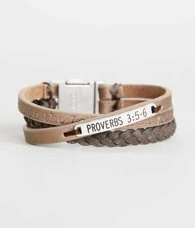 Good Work(s) Proverbs 3:5-6 Script Bracelet