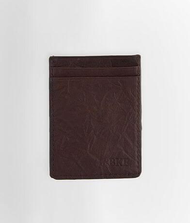 BKE Magnetic Clip Leather Wallet