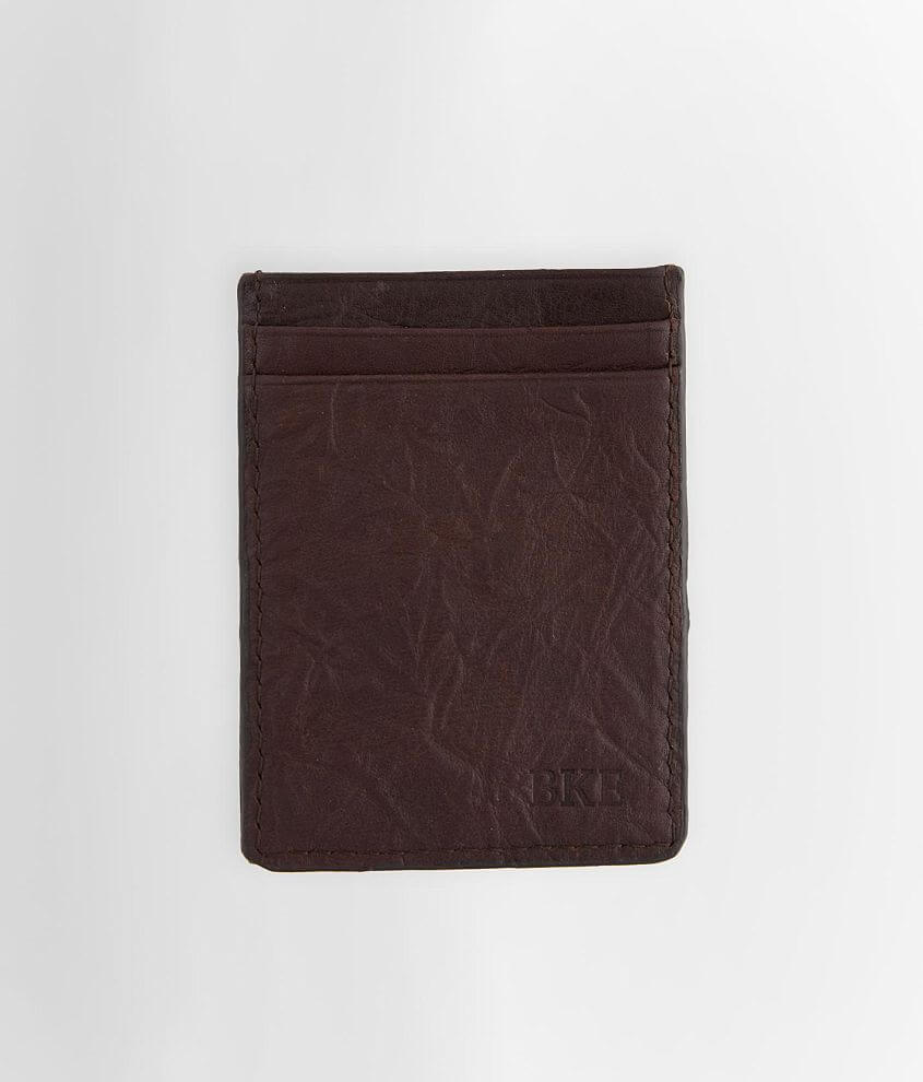 BKE Magnetic Clip Leather Wallet front view