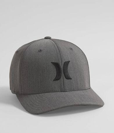 Hurley Black Textures Stretch Hat