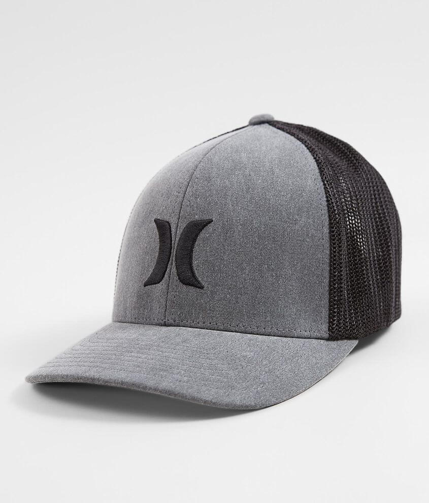New Hurley Icon Textures Trucker Hat Black