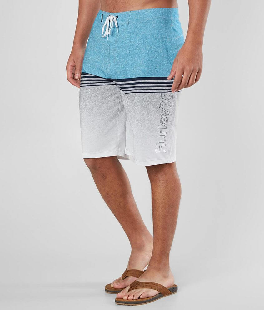 Unlined graphic striped boardshort 12\\\