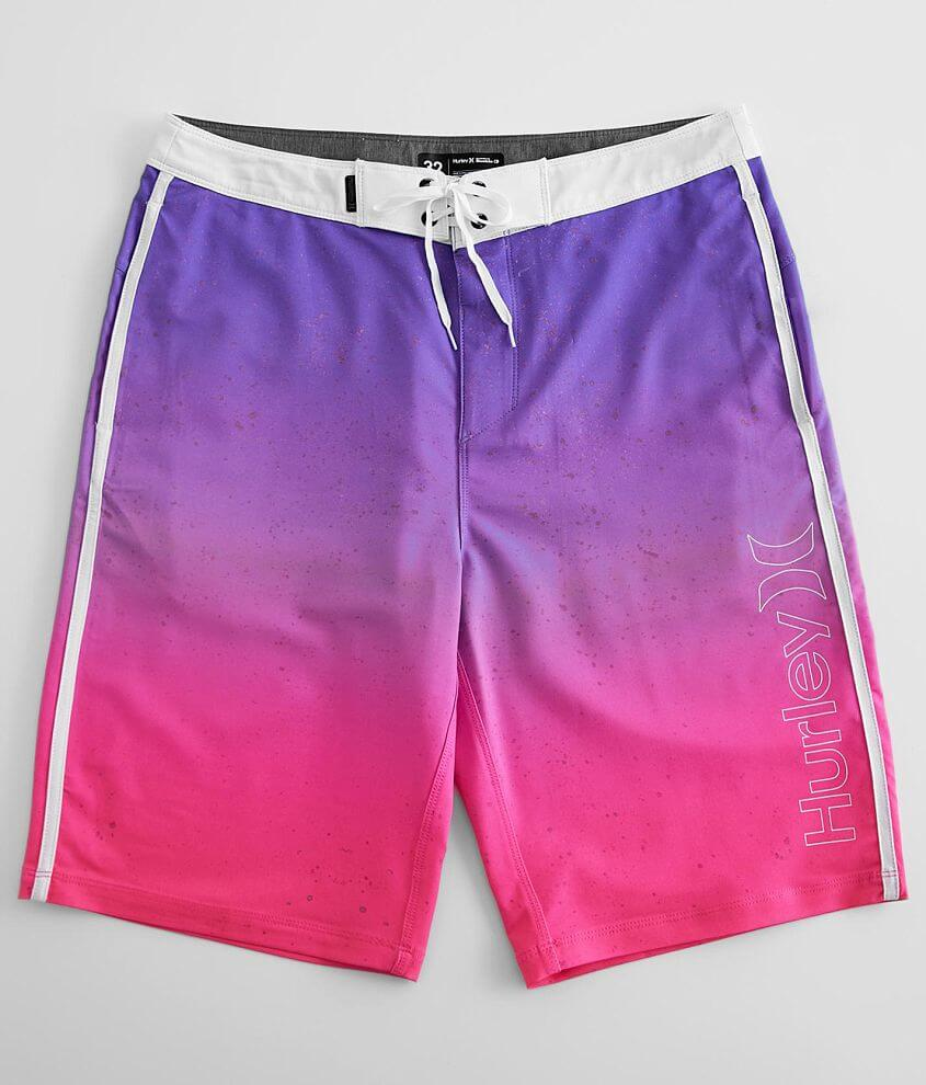 Graphic unlined gradient stretch boardshort 12\\\