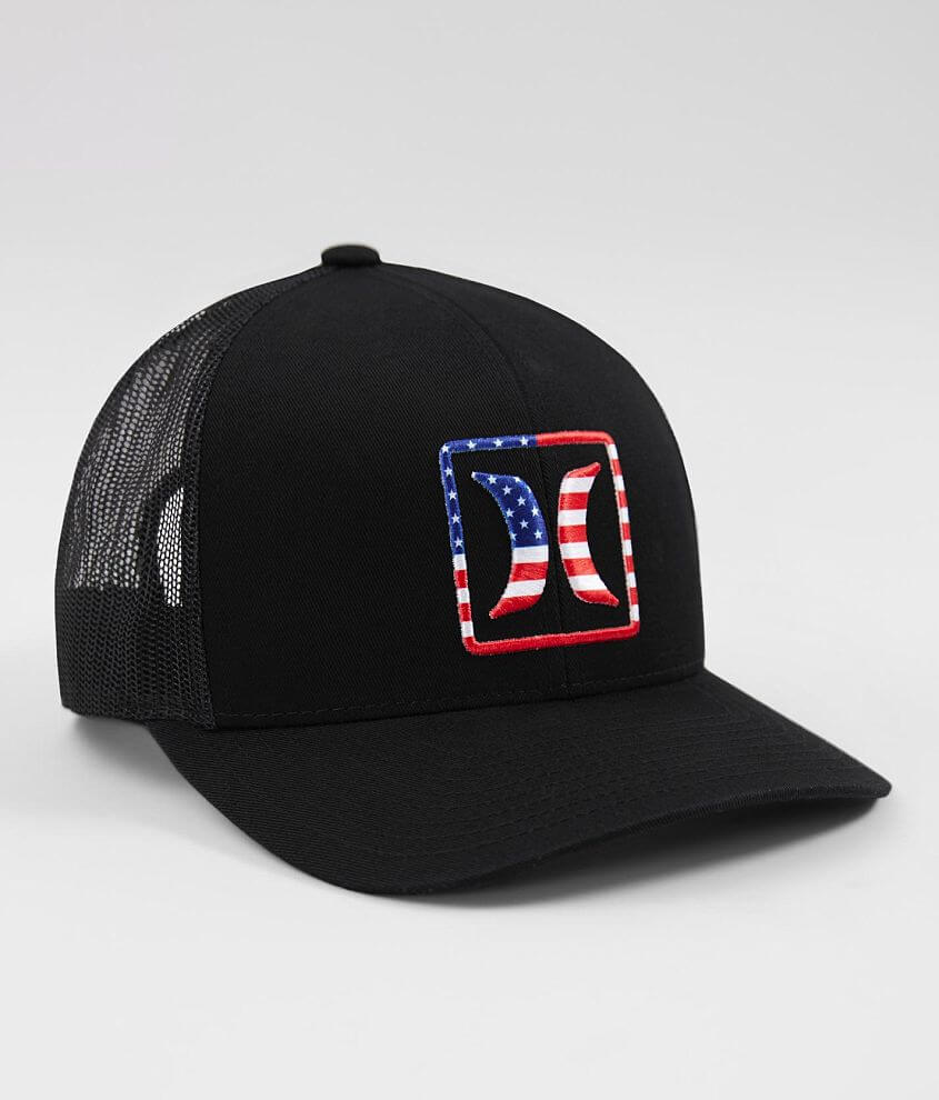 new styles 699d5 a3a72 USA Trucker Hat. Hurley