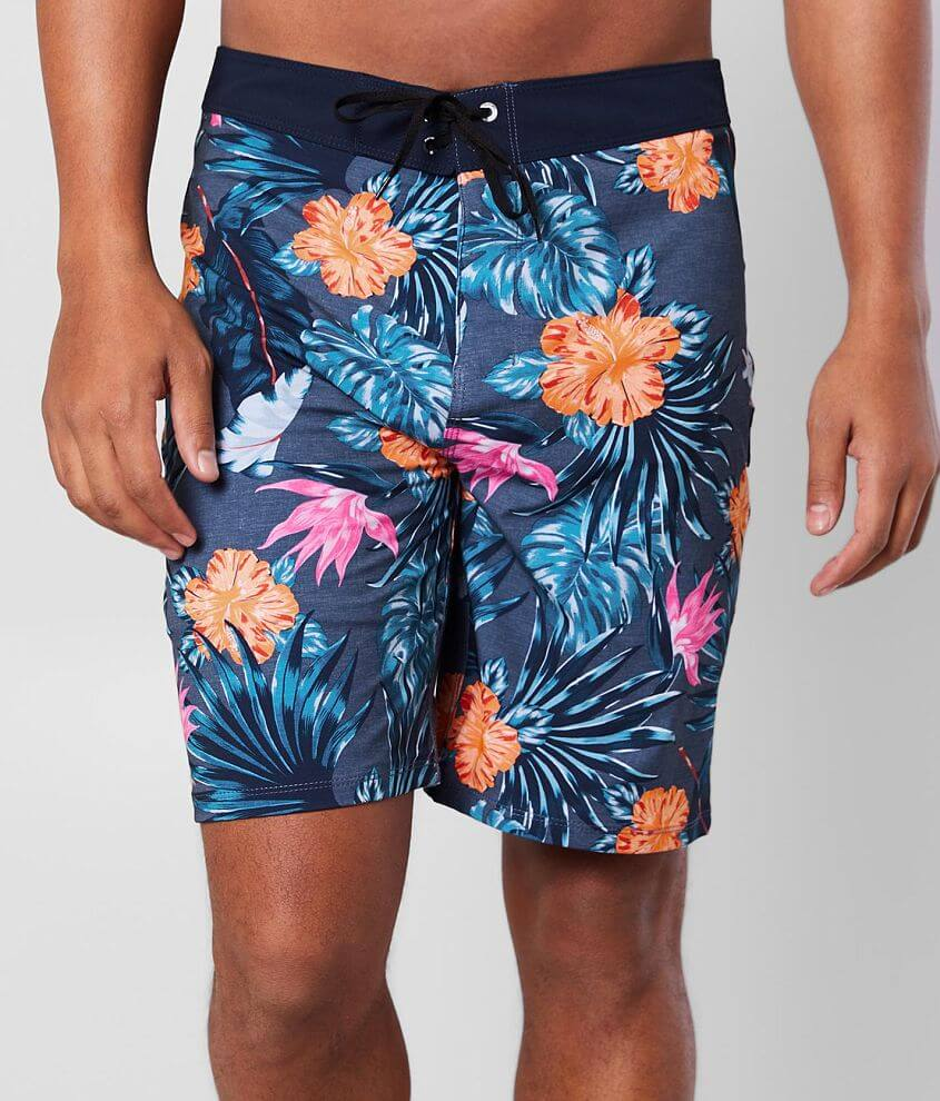 Unlined tropical floral printed boardshort 12\\\