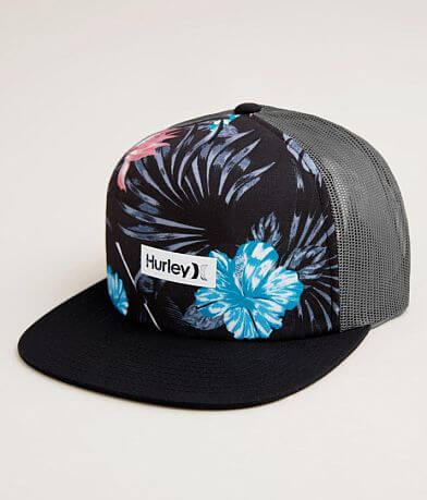 Hurley Tropical Square Trucker Hat