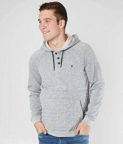 Hurley Windsor Quilted Hooded Henley Sweatshirt