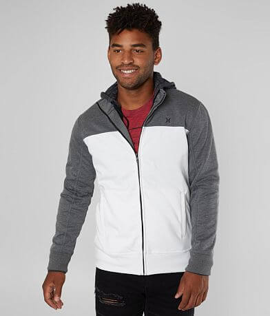 Hurley Alpine 2-FER Zip Front Hooded Track Jacket