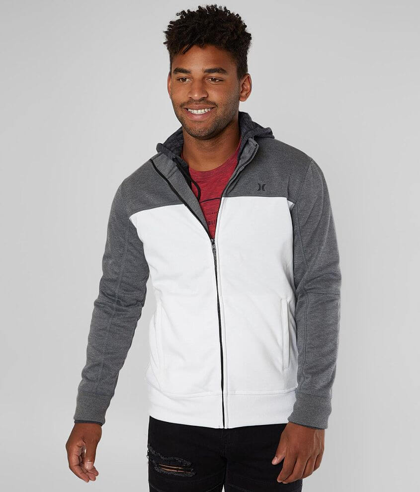 Hurley Alpine 2-FER Zip Front Hooded Track Jacket front view