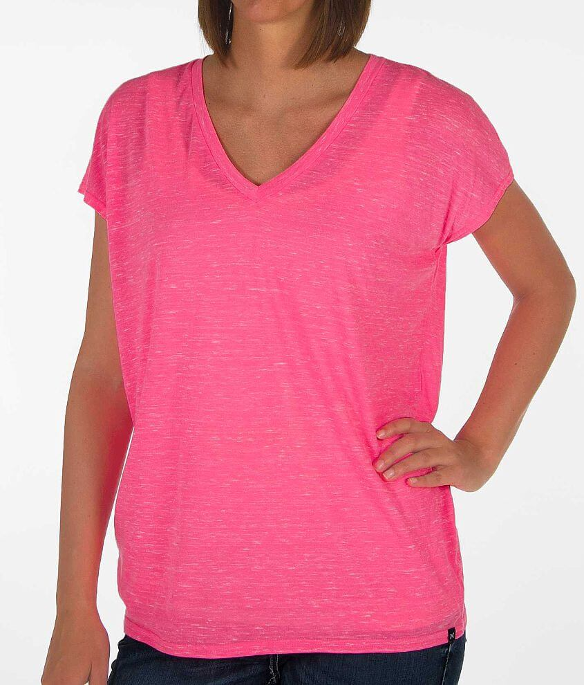 Hurley Solid V-Neck T-Shirt front view