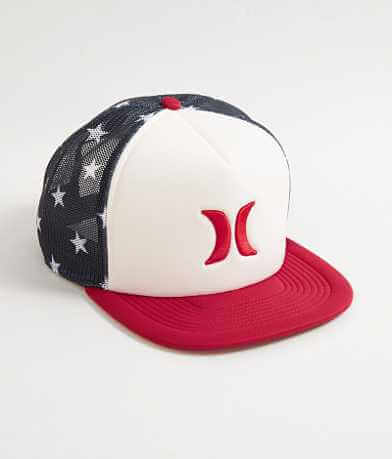 Hurley Blocked USA Trucker Hat